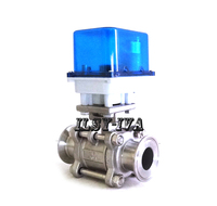 Two Way DN15 DN25 Motorized Ball Valve DC12V DC24V Stainless Steel Electric Ball Valve