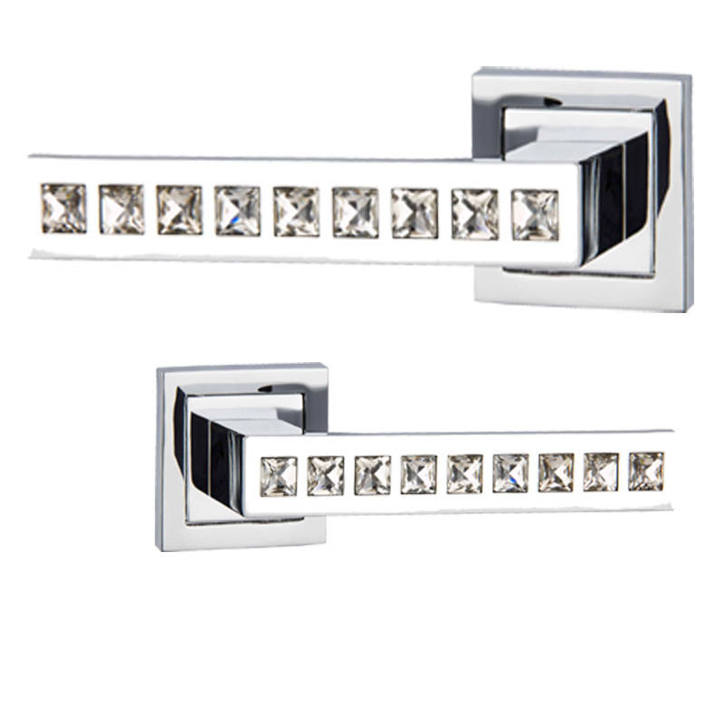L31-300 ZINC ALLOY MATERIAL ROSSETTE DIAMOND DOOR HANDLES FOR OFFICE AND HOUSE l 3285629 300