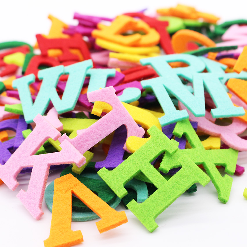 26pcs felt alphabet letter polyester fabric for sewing cloth felt craft fabric for scrapbooking diy fieltro