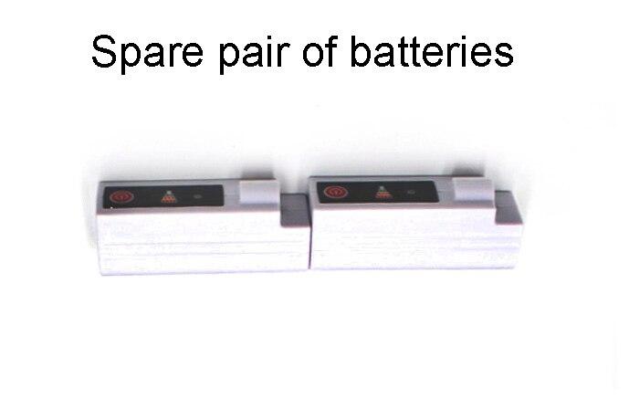 Носки с электрическим подогревом теплые носки с перезаряжаемой батареей 3,7 вольт эластичные теплые носки для здоровья для помещений и активного отдыха - Цвет: Spare Batteries