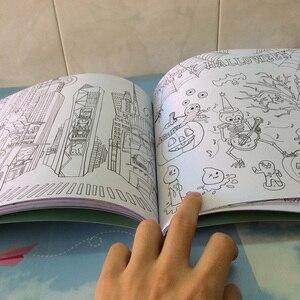 Image 3 - 64 דפים סביב העולם צביעת ספר סוד גן צביעת ספר למבוגרים ילדי להקל על לחץ גרפיטי ציור ספר