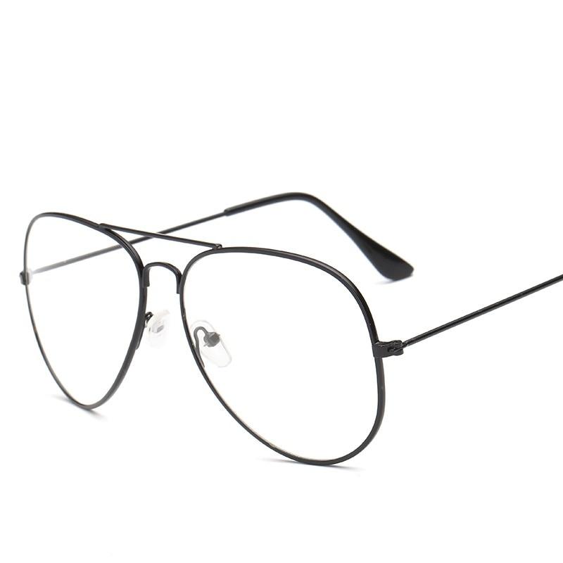 Для женщин/Для мужчин прозрачные линзы Стекло es из металла Простые Стеклянные очки Frame Классические очки с металлической оправой Oversize Винтаж очки