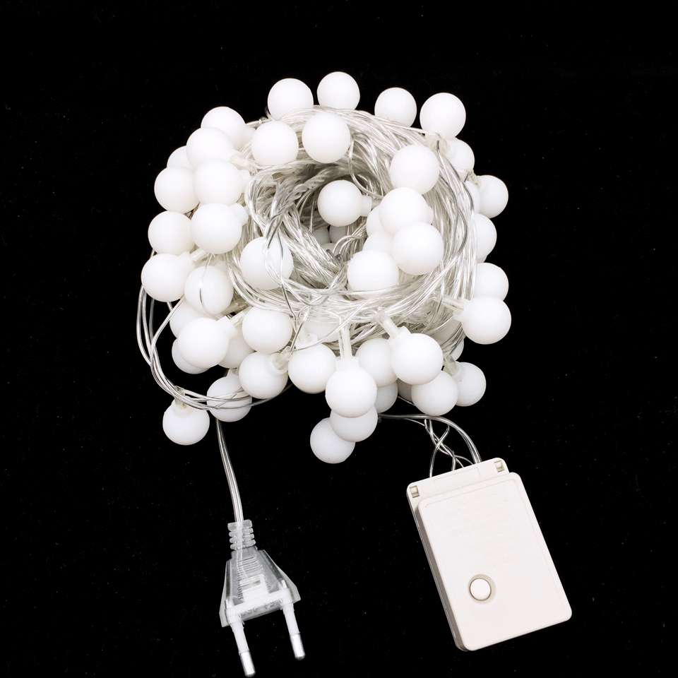 20/50/100 Balls Led String Lights 5m/10m Outdoor Christmas Garland Light Fairy Holiday Wedding Party Decoration Lamp 110v 220v Skillful Manufacture