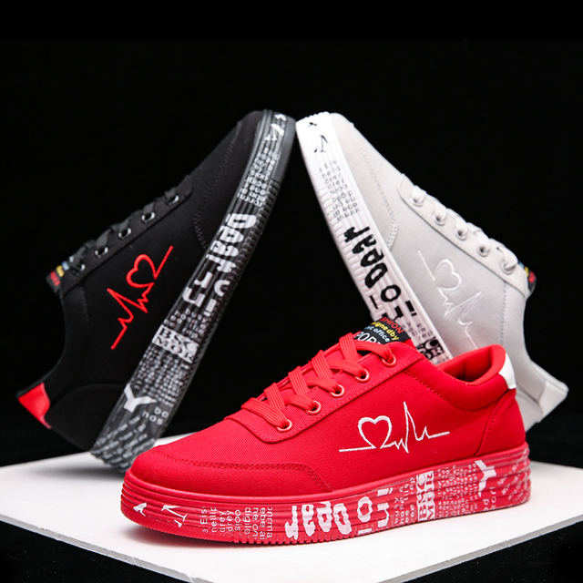 TYDZSMT 2020 Fashion Women Vulcanized Shoes Sneakers Ladies Lace-up Casual Shoes Breathable Canvas Lover Shoes Graffiti Flat