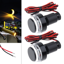2PCS 12V LED Motorcycle Signal Lights Yellow Flashing Signal Indicating Turn Signal Light  for Motorcycle Motorbike Universal 4 led 12v vehicle signal lights 2 pack yellow