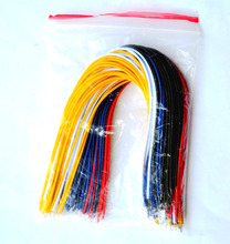 Free Shipping 100(pcs) Hookup Wire 20CM 5 colors 20 each color  For Aduino