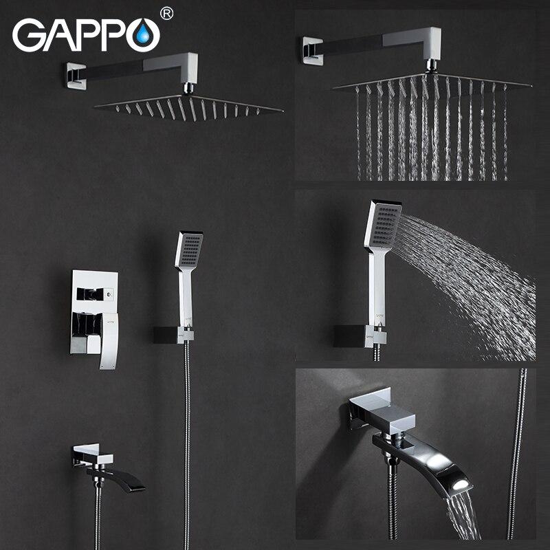 GAPPO bathtub faucet shower faucets bath tap shower set rain shower system shower room mixer water