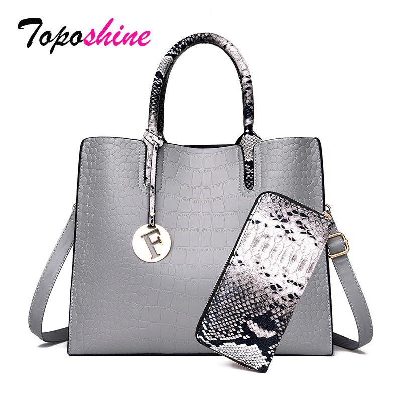 Ladies Handbag Messenger-Bag Crocodile-Pattern Wild-Shoulder Casual New-Fashion Composite-Package