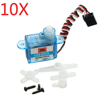10X 3.7g Micro Analog Servo GH S37A For RC Airplane Helicopter