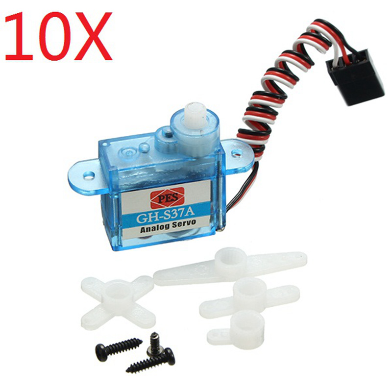 10X 3.7g Micro Analog Servo GH-S37A For RC Airplane Helicopter