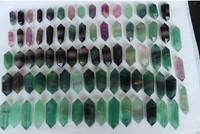 70 90mm natural green fluorite quartz crystal point wand 9pcs