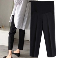 da84b963bbca0 Maternity Pants Trousers For Pregnant Women Wear Easy Casual Pants  Pregnancy Clothes Overalls Ninth Pants Pregnancy