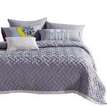Svetanya 3 шт. покрывало набор мягкие одеяло stiching Лето Стёганое одеяло покрывало Стёганое одеяло ED бросает одноцветное Цвет плед Одеяло