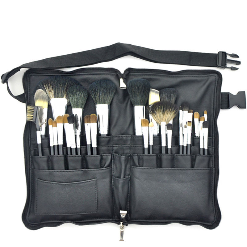 Professional 32pcs High Quality Makeup Brushes Set Soft Animal Hair With PU Leather Belt case For Fashion Beauty high quality professional rock climbing belt high altitude full body safety belt harnesses anti fall protective gear