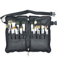 Professional 32pcs High Quality Makeup Brushes Set Soft Animal Hair With PU Leather Belt Case For