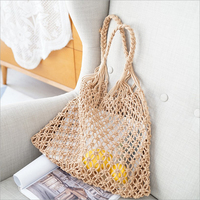 Cotton Fishing Net Woven Storage Bag High Capacity Fashion Nordic Sundries Book Storage Bag Home Decoration Organizer