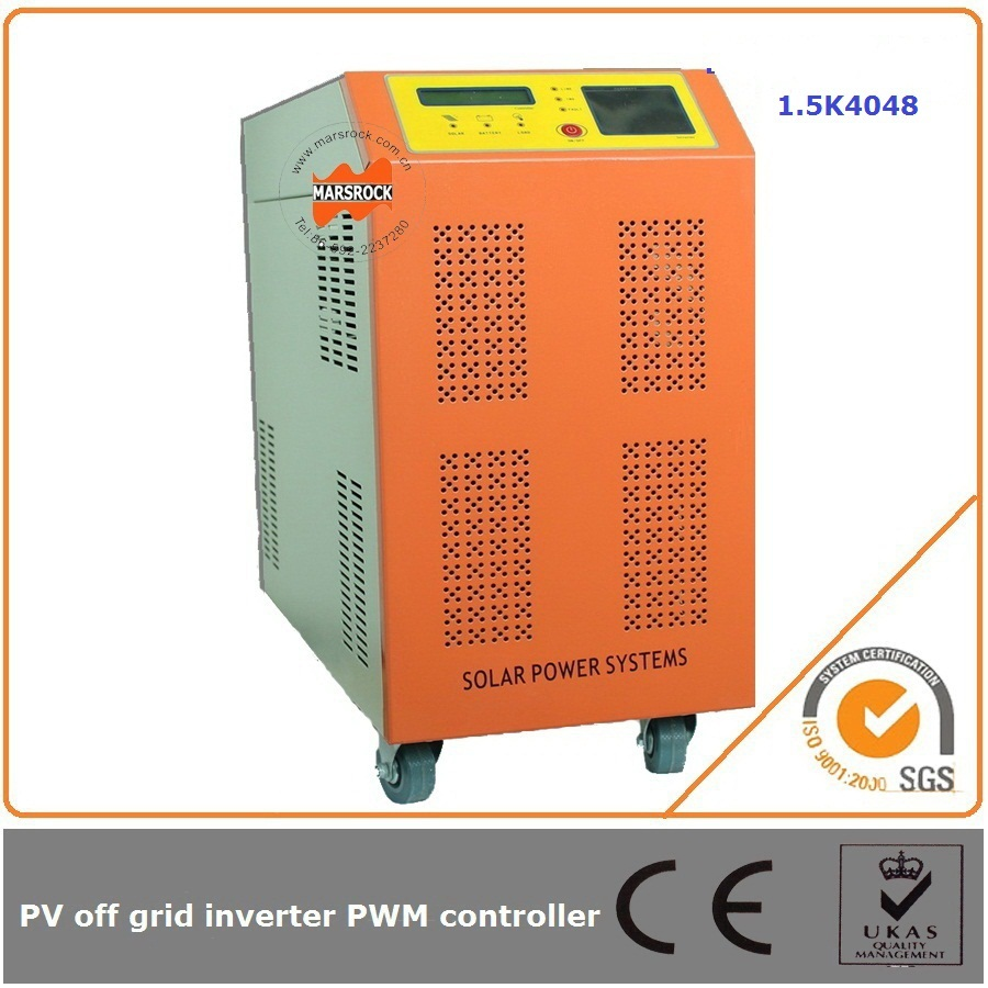 1500W 48V 40A solar inverter with charge controller intelligent charge control can extend the life span of the battery 750w 24v 10a solar inverter with controller can resist impact of large current starting loads ce iso approved