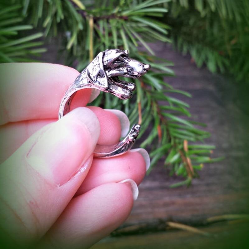 Прямая доставка Винтаж хиппи шик такса собака кольцо jewelry в кольца животных sausage Boho кастет кольца для горячие ювелирные изделия