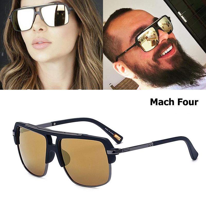 JackJad 2017 Nouvelle Mode Mach Quatre Carré Style lunettes de Soleil  Vintage femmes Hommes Homme Brand Design Lunettes de Soleil UV400 Oculos De  Sol 0e54173912d1