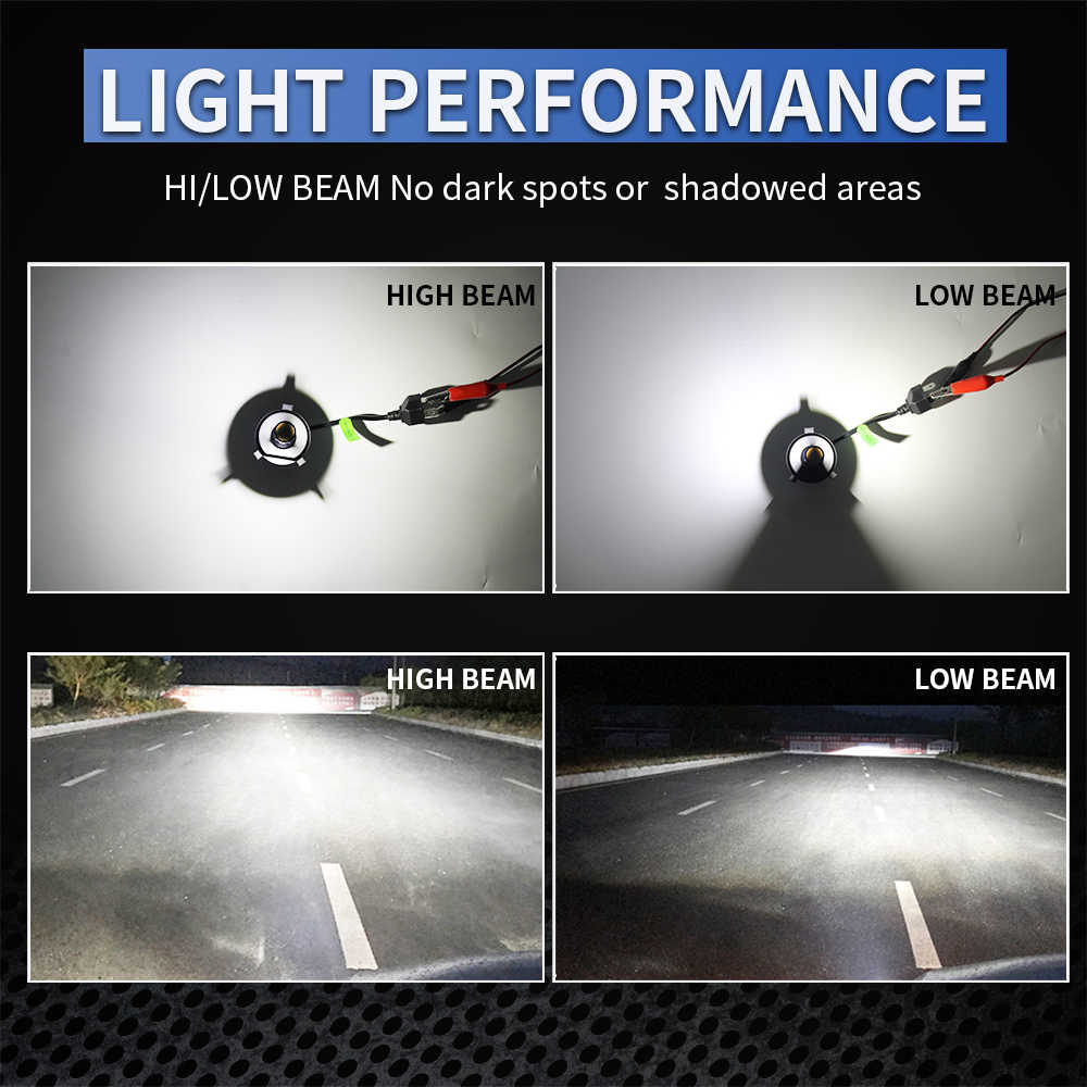BraveWay LED Lamp for Auto H4 H7 H1 H8 H11 HB3 HB4 9005 9006 H4 LED H7 Light for Motorcycle Headlight Bulbs Fog Light