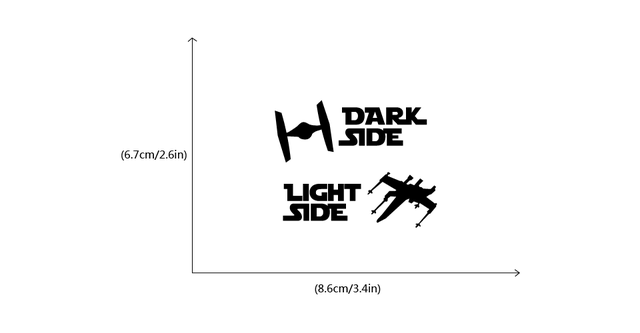 Star Wars Dark Side Light Side Switch Stickers