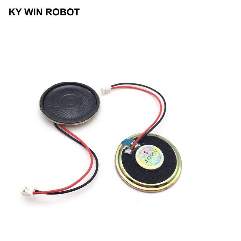 2pcs/lot New Ultra-thin speaker 4 ohms 2 watt 2W 4R Diameter 40MM 4CM thickness 5MM with PH2.0 terminal wire length 10CM