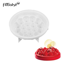 Bakeware Pastry Round Hill Pagoda Shaped White Silicone Cake Mold Baking Tools Non Stick