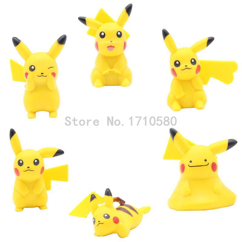 Pocket Monster Figures Dolls Pikachues Ash Ketchum Serena Nidoking Poke Ball Building Block Toys Best Gift