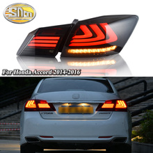 Car LED Tail Light Taillight For Honda Accord 9 2014 2015 2016 Rear Fog Lamp + Brake Light + Reverse Light + Dynamic Turn Signal