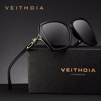 VEITHDIA Retro Womens Sun glasses Polarized Luxury Ladies Brand Designer Sunglasses Eyewear For Women Female V3039