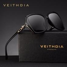 VEITHDIA רטרו נשים משקפיים שמש מקוטב יוקרה גבירותיי מותג מעצב משקפי שמש Eyewear לנשים נשי V3039