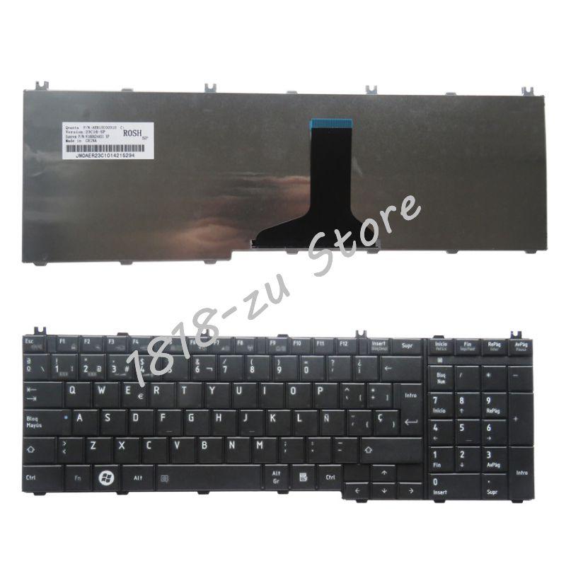 YALUZU Espagnol SP clavier D'ordinateur Portable pour toshiba Satellite C650 C655 C655D C660 C665 C670 L650 L655 L670 L675 L750 L755 SP Teclado