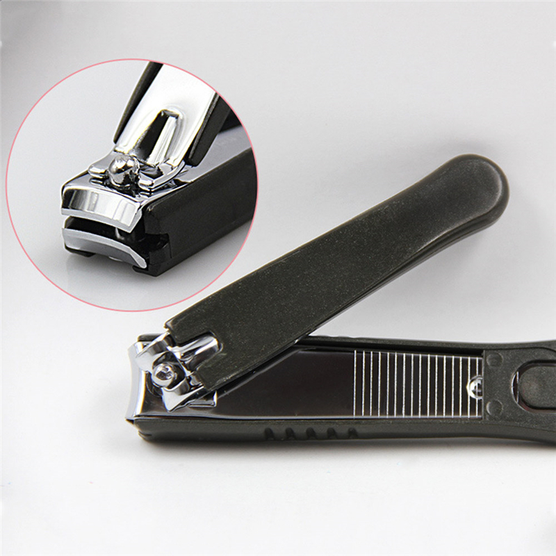 Carbon Steel Nail Clipper Cutter Professional Manicure Trimmer Toe Nail Clipper with Clip Catcher in Clippers Trimmers from Beauty Health