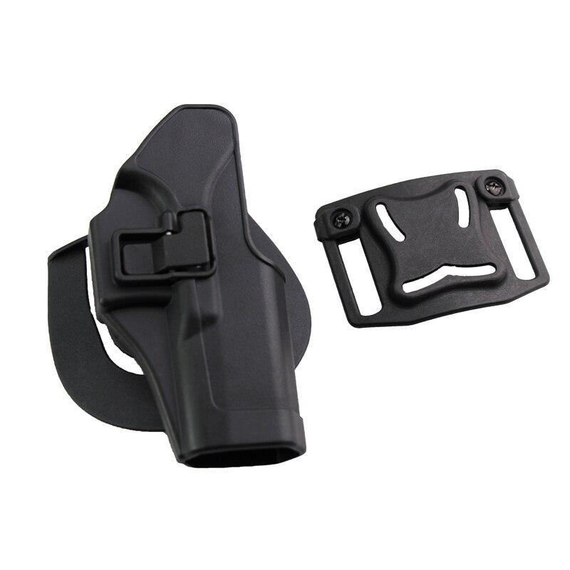 Tactical Gun Holster Airsoft War Games CQC Serpa Waist Pistol Holster fits GL17 19 22 23 RH Black