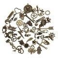 60-80 padrão Misto 50 pcs Encantos Assorted Esculpida Pingentes de Contas Liga de Metal Pingente de Bronze Antigo Chapeado Diy Bead F2677B