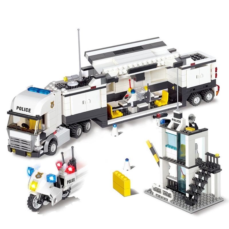 6727 City Street Police Station Car Truck Building Blocks Bricks Educational Toys For Children Gift Christmas Legoings 511Pcs 6727 city street police station car truck building blocks bricks educational toys for children gift christmas legoings 511pcs