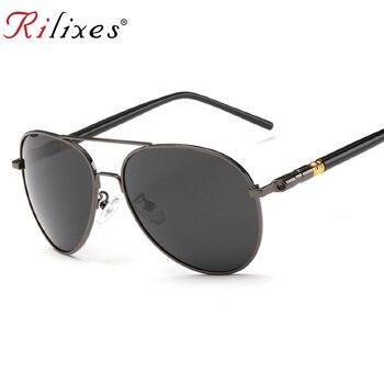 e7eba501a4 RILIXES UV400 piloto Yurt gafas de sol hombre gafas de sol polarizadas de marca  diseño de logotipo de conducción gafas de sol
