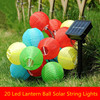 Lantern Ball Solar String Lights 20 LED Solar Lamp Outdoor Lighting For New Year Christmas Decorative