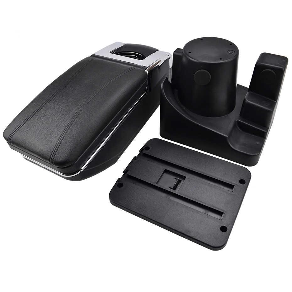 Soporte de caja de almacenamiento para VW Vento Jetta Mk5 2006-2011 VW Golf Mk6 2008-2014 consola central brazo resto giratorio de 2009 de 2010