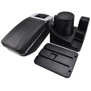 Image 5 - Storage Box Armrest For VW Vento Jetta Mk5 2006 2011 VW Golf Mk6 2008 2014 Center Centre Console Arm Rest Rotatable 2009 2010