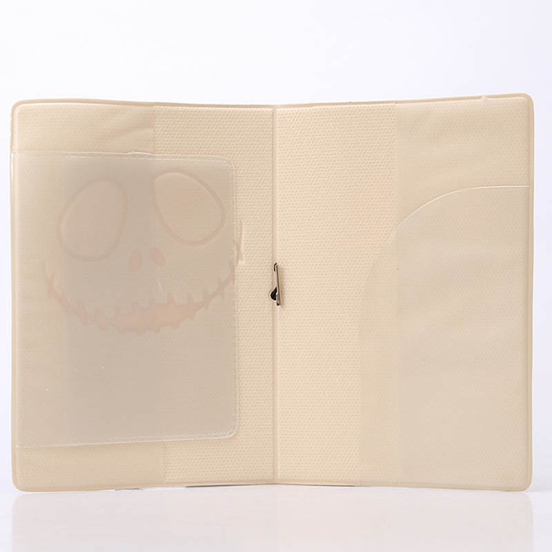 Travel Accessories Passport Holders Covers Halloween Ghost PU Leather ID Bank Card Bag Women Passport Business Case 14*9.6CM