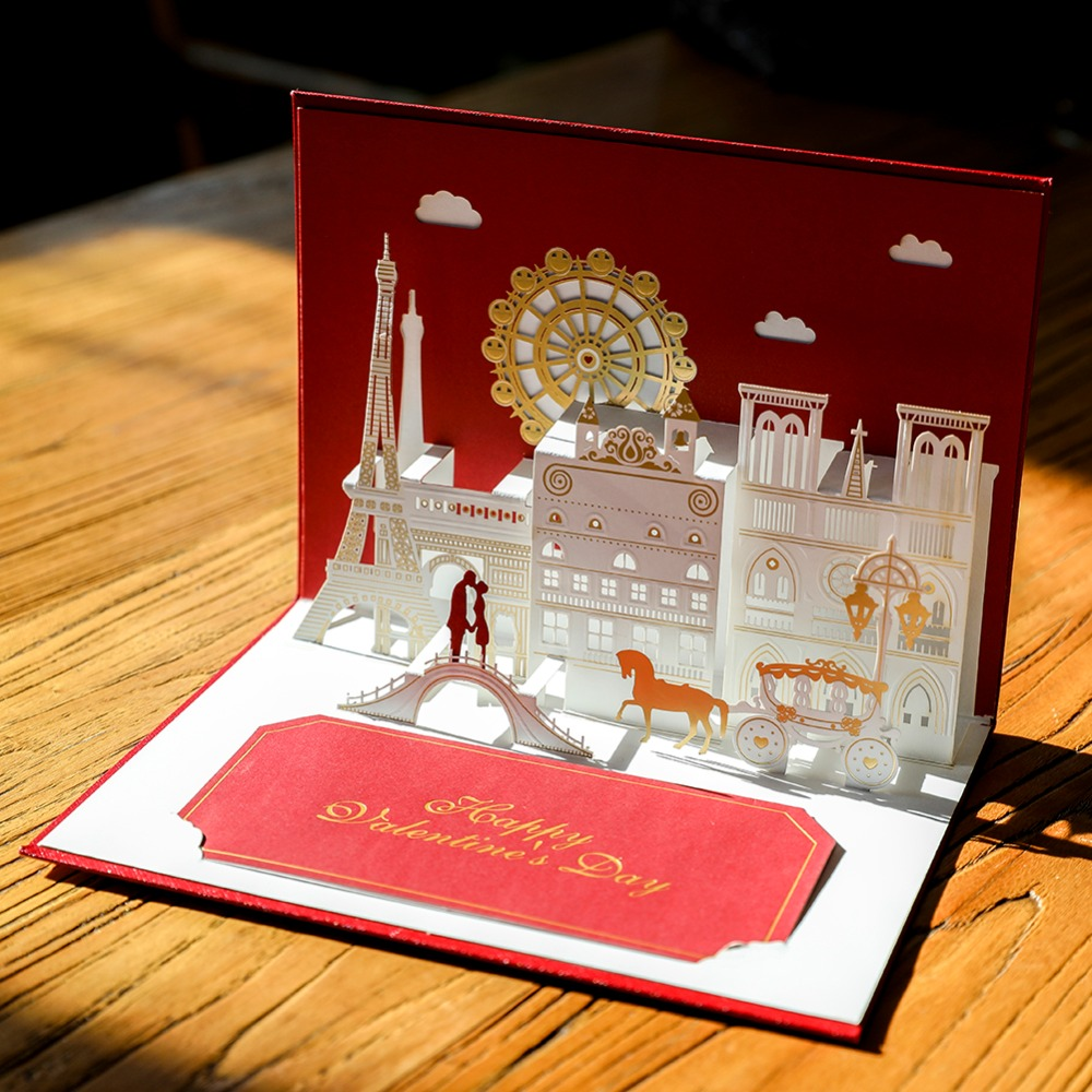 Top grade 3D Wedding invitation Pop Up Greeting Cards laser cut ...