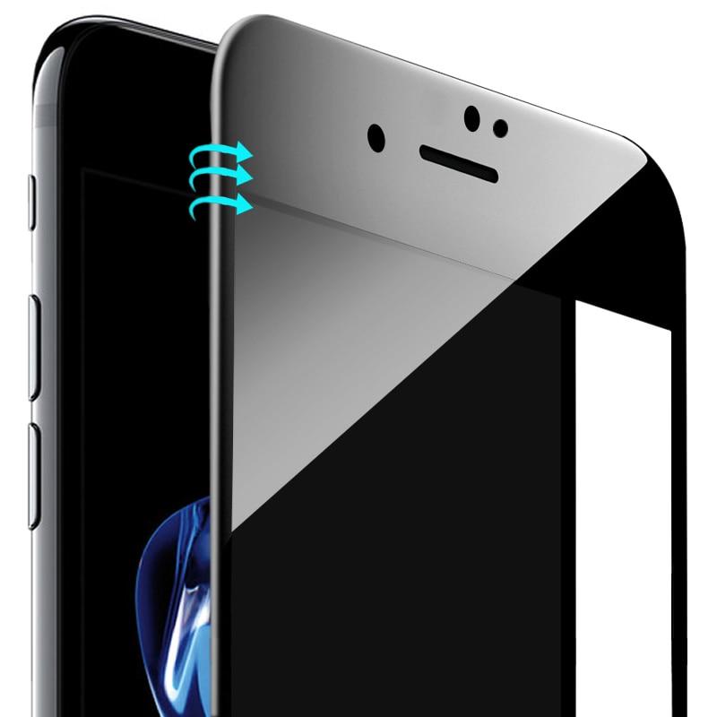För iPhone 7 6 6s skärmskydd Härdat glas Hel täckning 3D böjd - Reservdelar och tillbehör för mobiltelefoner - Foto 1