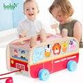 Brinquedos do bebê para crianças de ônibus carro hot wheels crianças puxar junto com martelo jogo presente de natal para criança