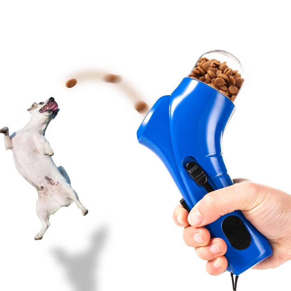 Pet Dog Cat Treat Launcher Snack Food Feeder Pets Food Thrower Puppy Snacks Feeder For Pet Cats  Dispenser Training Snack Feeder