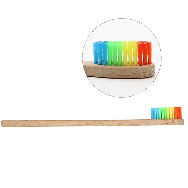 Colorful Bamboo Toothbrushes 4 Pcs Set