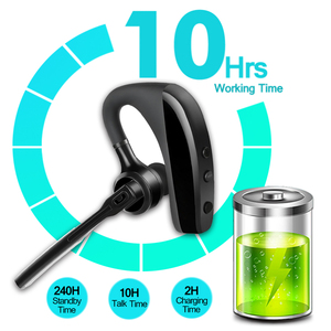 Image 3 - K10 Bluetooth Oortelefoon Draadloze Business Hoofdtelefoon Stereo Handsfree Ruisonderdrukking Bluetooth Headset Hd Mic Niet Tws Oordopjes