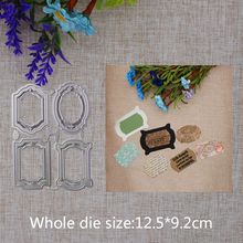 2019 New Arrival Lovely Tag Lable 4Pcs Christmas Cutting Dies Stencil DIY Scrapbook Embossing Decor Paper Card  Craft 125x92mm 2019 new arrival lovely circle grass cutting dies stencil diy scrapbook embossing decorative paper card craft template 89x83mm
