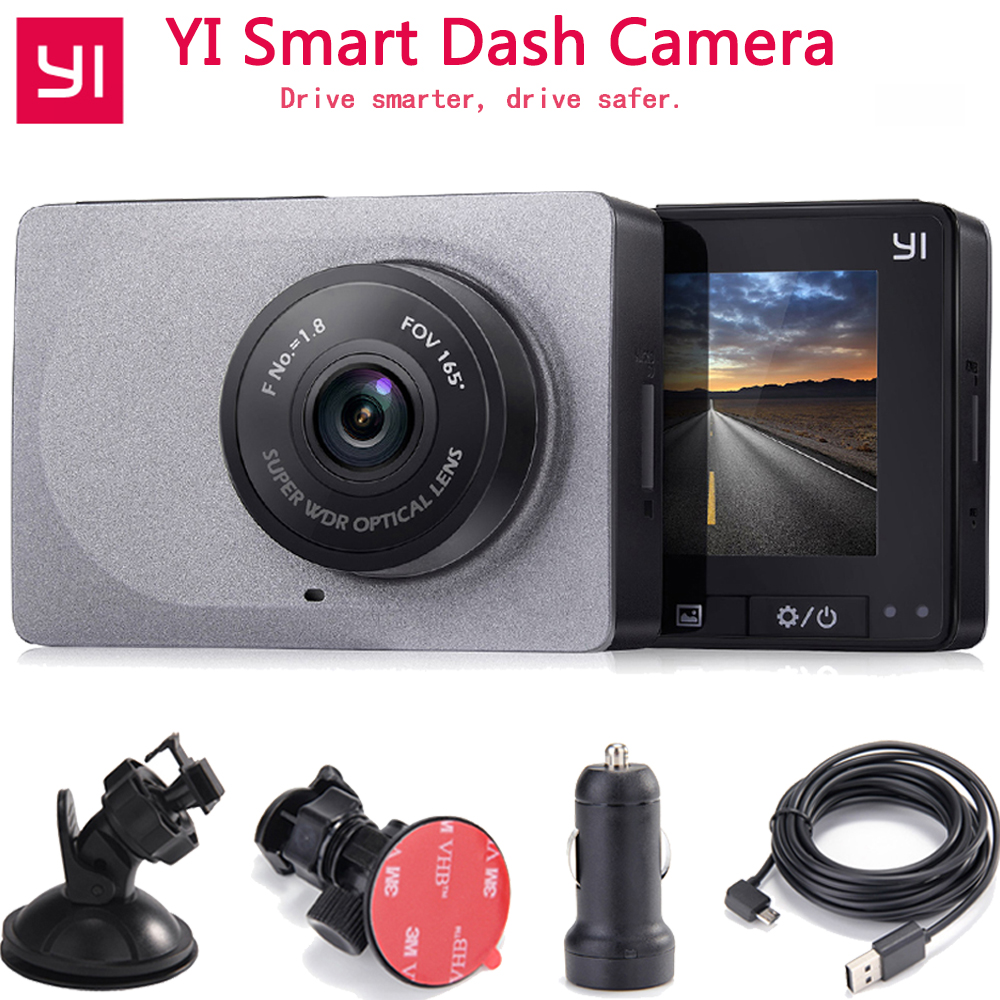 [International Edition]Xiaoyi YI Smart Car Camera 1080P 60fps 165 Degree Detector 2.7