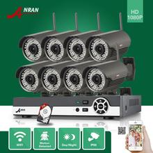 ANRAN 8CH NVR Onvif 1080P Outdoor 78 IR Wireless Network Security WIFI IP CCTV Camera Video Surveillance System 3TB